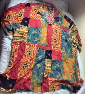 Jams World Hawaiian Shirt Men's Edition Size XXXL Vintage
