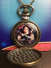 DC Comics 2017 Wonder Woman Image Pendant Pocket Watch NEW VHTF