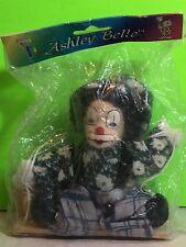 Vintage Ashley Belle Porcelain Clown Flower Shirt On Swing NIP New Old Stock