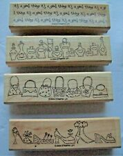 It's A Girl Thing ~Shoes Purses Perfume ~ Borders ~ 4 Rubber Stamps Stampin' Up