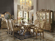 ATHEN Traditional Gold Ivory Dining Room Set NEW 7pcs Rectangular Table & Chairs