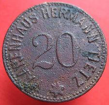 Old Rare Deutsche token- Berlin Waarenhaus Tietz -20 pf -3136.3 -mehr am ebay.pl