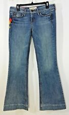 UNION BAY WIDE LEG LOW RISE EMBROIDERY POCKETS HIPPY WOMEN JUNIOR SIZE 9