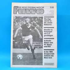 DDR FUWO Fussballwoche 7/1985 Hansa Rostock FC Karl-Marx-Stadt Ekuador-DDR 2:3 A