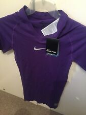 Nike Pro Dri-Fit Competition football Short Sleeve Baselayer - purple XL