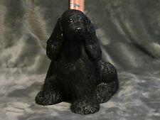COCKER SPANIEL PLASTER DOG STATUE HAND CAST & PAINTED BY T.C. SCHOCH