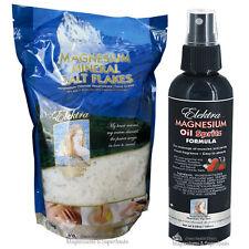 Magnesium Chloride Salt 1Kg (Food Grade) & Magnesium Oil 180ml. No Lead. No Merc