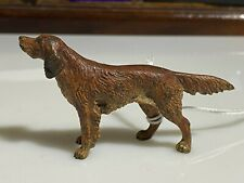 ANTIQUE  AUSTRIAN COLD PAINTED BRONZE  RED SETTER