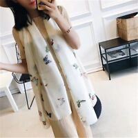 Luxury Silk Scarf for Women New Designer Hemming Long Scarves Shawls Wrap New