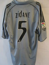 Real Madrid 2005-2006 Zidane 5 Away Football Shirt Size Large /34355