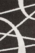 Gestreifte Wohnraum-Teppiche im Hochflor -/Shaggy -/Flokati-Stil