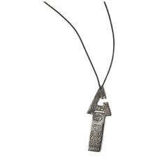 """Arizaga Men's Sparky Necklace Antique Steel 25"""" Spark Plug Biker Designer Gift"""