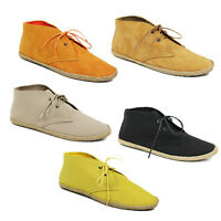WOMENS LACE UP LOW ANKLE BOOTS BOOTIES ESPADRILLES LOAFERS LADIES SHOES SIZE 3-8