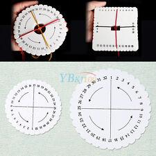 Square Round Kumihimo Braiding Cord Disc Foam DIY Braided Tool Plate White HighQ