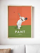 More details for rishabh pant india cricket a3 & a4 poster - international cricket icon
