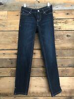 White House Black Market Noir Slim Leg Jeans Women's EUC Cute Rolled Size 00R