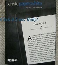 NO Ads SEALED 7th Generation 300 PPI 4GB Amazon Kindle PAPERWHITE 1Yr Wrnty WiFi