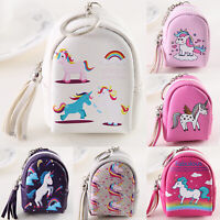 Womens Girls Unicorn Coin Purse Small Change Wallet Mini Pouch Backpack Handbag