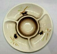 Vintage 60s Ceramic Lane & Co. Van Nuys CA # 3060 Chip & Dip Tan, brown, orange