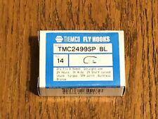 100 Tiemco Fly Tying Hooks, TMC 2499SP-BL, Size 14