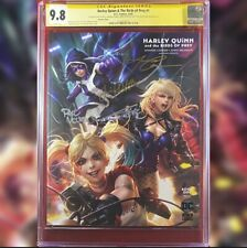 HARLEY QUINN & THE BIRDS OF PREY #1 CHEW VARIANT COVER CGC 9.8 SS 4X SIGNED