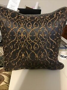 Croscill Ryland Blue Fashion Pillow, NEW