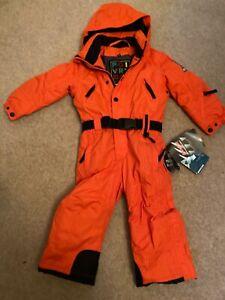 BNWT Kids Unisex POIVRE BLANC Orange snowsuit/Ski suit size 2 years