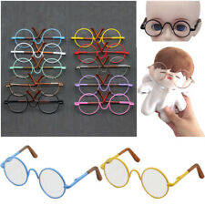 Inch Toy Miniature Eyewear Metal Frame Round-Shaped Clear Lens Doll Glasses