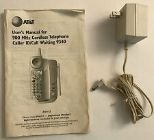 Att power supply for 9000 series phone base plus User's manual for 900mHz