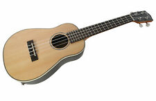 B-STOCK CONCERT UKULELE ELECTRO ACOUSTIC UKE SOLID TOP ROUND BACK BY CLEARWATER