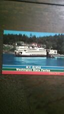 WASHINGTON STATE FERRIES M.V.ELWHA SAN JUAN ISLANDS POST CARD