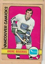 HOCKEY CARD NHL 1972-73 ANDRE BOUDRIAS  VANCOUVER CANUCKS  OPC  #93
