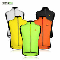 Hi-Viz High Visibility Reflective Running Cycling Vest Gilet Top Shirt Jersey