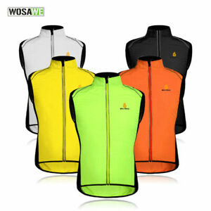 Hi Vis Cycling Vest High Visibility Running Gilet Reflective Windbreaker Gifts