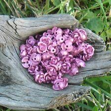90 perles fleurs / roses métal aluminium 9,5 mm (Lilas