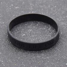 Gummi Armband Wristband Anti Rassismus Schwarz one life one chance Aufschrift