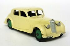 Dinky Toys Meccano Vintage - 40A Riley Saloon Cream Green Hubs Diecast Toy Car