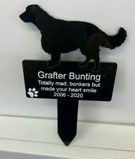 Personalised Engraved Perspex Springer Dog Memorial Plaque