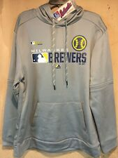Milwaukee Brewers MLB Majestic Authentic Collection Hoodie in size Large - NWT