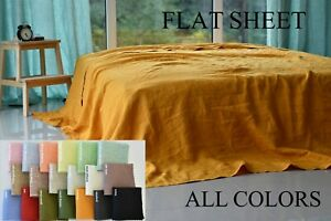Linen FLAT SHEET -bed sheet linen bedding, flax linen, sheet flat, organic linen