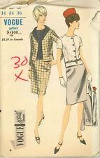 Vintage Vogue Suit & Blouse Sewing Pattern 6945 Size 14