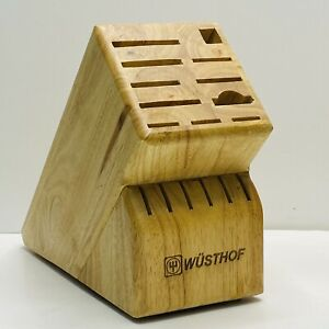 Wusthof 17 Slot Solid Wood Knife Block Cleaned Disinfected