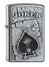 Zippo Lighter ⁕ Joker Skull ACE Emblem ⁕ 2005170 Neu New OVP ⁕ A899