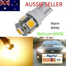 2x Subaru Liberty LED Light Park Plate WARM DAY WHITE Bulb Globe W5W 5smd 196