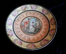 PORCELAINE ALLEMANDE TURINGE  GRAND PLAT DECORATIF ASPECT TISSE  /  1861