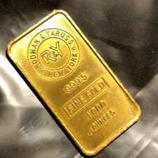 RODMAN YARUSS NEW YORK 1oz GOLD BAR VINTAGE VERY VERY RARE only 1 on ebay  #75e1
