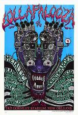 MINT/SIGNED/DOODLED Metallica Ramones 1996 EMEK LOLLAPALOOZA Poster