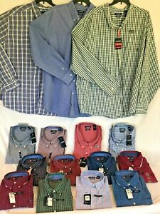 Big & Tall CHAPS Button-Down Shirts - Casual Long Sleeve - Sizes 3X 4X 5X 6X