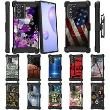 For Samsung Galaxy Note 20 Ultra 6.9 Full Body Armor Rugged Holster Clip Case