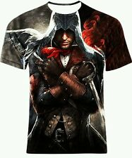 DOUBLE SIDE FULL PRINT MULTI COLOR ASSASSIN'S CREED GRAPHIC ART TEE! All SIZES!